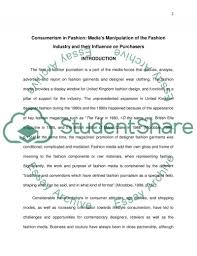 media s manipulation of the fashion industry dissertation media s manipulation of the fashion industry essay example