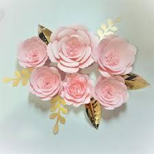 Diy Giant Paper Rose Flower 2018 Diy Giant Paper Flowers Backdrop 6pcs Leaves 6pcs