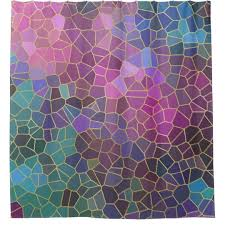 purple and gold shower curtains. Mosaic Pattern Of Pink Purple Teal Blue Green Gold Shower Curtain And Curtains S