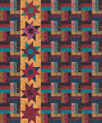 Free Downloadable Quilt Patterns & Tonga Boysenberry Quilt Pattern by Timeless Treasures.