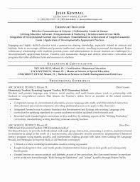 Education Resumes Unique Elementary Education Resume Examples