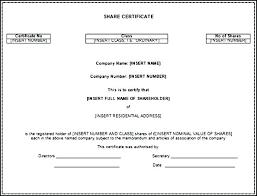 Form Of Share Certificate Template For Share Certificate Gotostudy Info
