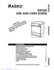 asko t761 manuals asko t761 use and care manual
