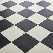 rhino champion pisa black white chequered tile vinyl flooring