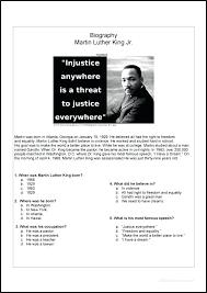 Martin Luther King Worksheets Free Martin King Jr Free Free Martin ...