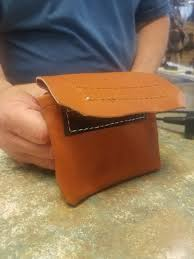 amish made leather nail pouch