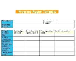 Grant Progress Report Template Form Financial