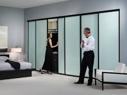 stylish sliding closet doors. Modern Ideas Black Sliding Closet Doors Finish Door Solo Design And Milky Glass Stylish