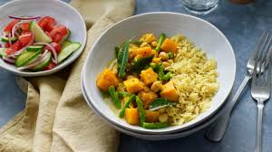 ernut squash and pea curry