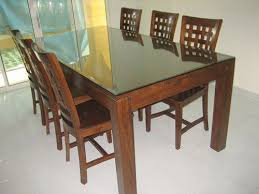 wooden dining table and 6 chairs fascinating great dining room chair set of within dining table