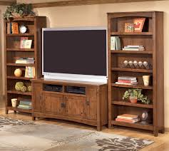 ashley furniture cross island  inch tv stand   large bookcases