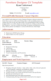 Check out real resumes from actual people. Furniture Designer Cv Template Tips And Download Cv Plaza