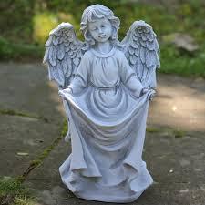 angel garden statue. stone angel bird feeder garden statue r