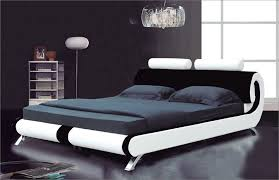 details about modern italian designer double king size leather bed 2 colours furniture ij103