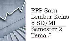 Rpp matematika 2009 kelas 4 sd. Rpp Satu Lembar Kelas 5 Sd Mi Semester 2 Tema 5 Mitra Kuliah