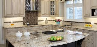 kitchen top with white porcelain square