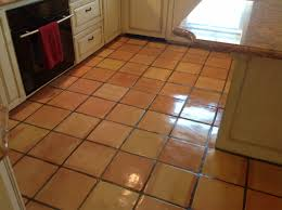 cozy saltillo tile with paint kitchen cabinets for traditional kitchen design