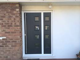 milano style composite door with matchin side panel