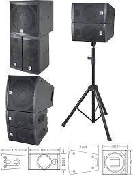 concert speakers system. concert stage pro speakers system d