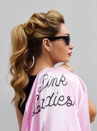 hairstyle for grease pink las y hair