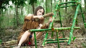 Primitive <b>Rocking Chair Bamboo</b> Lounge Chair - Ana's Handmade ...