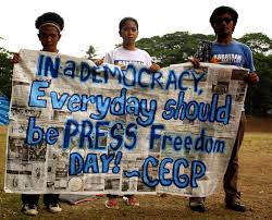 「people gathered for freedom of press in the Philippines」の画像検索結果