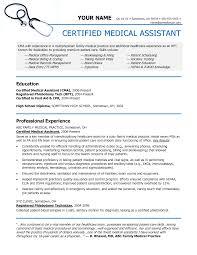 Sample Medical Assistant Resume Resume Samples