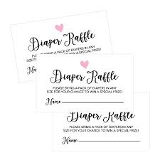 Diaper Invitations 25 Diaper Raffle Ticket Lottery Insert Cards For Pink Girl Heart Baby Shower Invitations Supplies And Games For Baby Gender Reveal Party Bring A