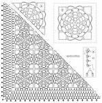Схема вязания красивой шали крючком