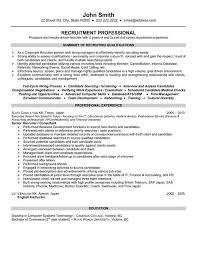 Nurse Recruiter Resume Resume Template Recruiter Resume Example Free Career Resume Template 19
