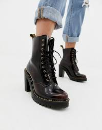 Martens chelsea boot was produced in the 70s, but the actual style dates back to the victorian era. Dr Martens Kendra Cherry Leather Heeled Ankle Boots Asos 119 Real Leather Of Course Boots Heeled Ankle Boots Doc Martens Outfit