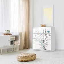 Folie Für Möbel Malm Kommode 4 Schubladen Ikea Bamboo 1 Creatisto