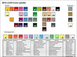Lego Brick Colour Chart How Many Different Colours Of Lego Bricks Are There Bricks