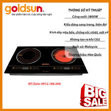 Bếp Điện Từ - Hồng Ngoại Goldsun CH-GYL05 (3800W) - Đen - Hàng chính hãng