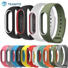 Silicone Xiaomi Miband 2 <b>Colorful Strap Wristband</b> Replacement em ...