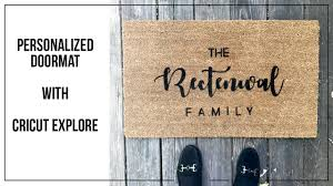 Personalized Doormat with Cricut Explore - YouTube
