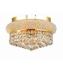 elegant lighting v1800f12g sa primo 4 light 12 inch gold flush mount ceiling light in