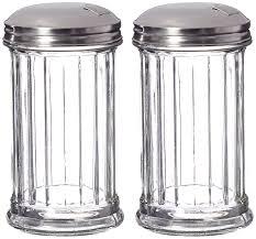 update international retro style sugar dispenser pourer shaker glass jar stainless steel pour flap lid 12 oz set of 2 com