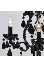 marie therese black electric candelabra 3 arm table lamp w45 x h63cm