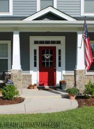houses with red front doors. Wonderful Houses Pretty Gray House Exterior Color With Red Painted Door In Houses With Red Front Doors F