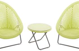 green modern patio and furniture medium size folding rattan chairs faux set of with side table lime