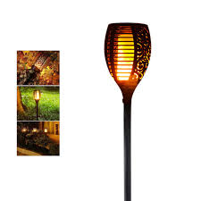 Landscape Lights That Look Like Flames Solar Led Flame Lamps Waterproof Romantic Flicker Effect Torch Lights Indoor Led Fire Light Bulbs Outdoor Lawn Garden Decoration