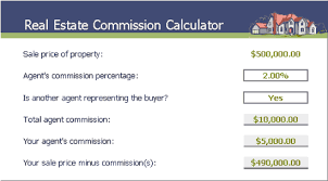 realtor commission calculator real estate commission calculator