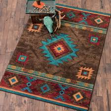 whiskey river turquoise rug x area rugs tucson southwest roselawnlutheran soaring diamonds dining table rustic western