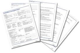 Incident Illness Investigation Report Form