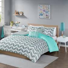 intelligent design laila 4 piece teal twin twin xl geometric comforter set