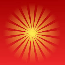 Radial Red Yellow Radial Beams On Red Background Public Domain Vectors