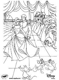 Free printable resources for kids and adults Disney Princess Cinderella At The Ball Coloring Page Crayola Com