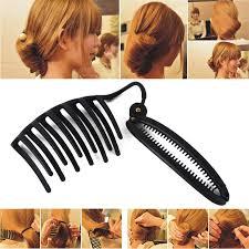 French Twist Hair Style women diy hair styling updo bun b clip tool formal french twist 8522 by stevesalt.us