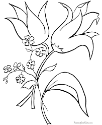Easter Flowers Coloring Pages Getcoloringpagescom